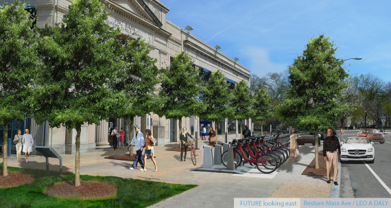 Dupont Circle, PNC Bank, Capitol Bikeshares, Dupont Underground ANC 2B, Casey Trees, Leo A Daly